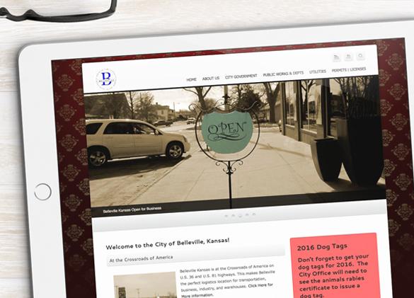 Website Design for City of Belleville, Kansas