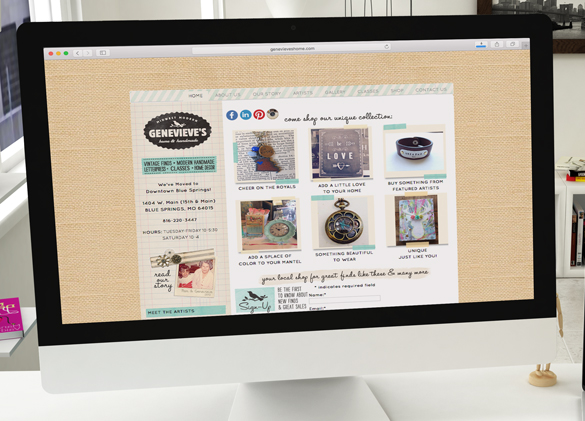 eCommerce Website Design for Genevieve's Home