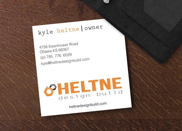 Business Card Design for Heltne Design Build