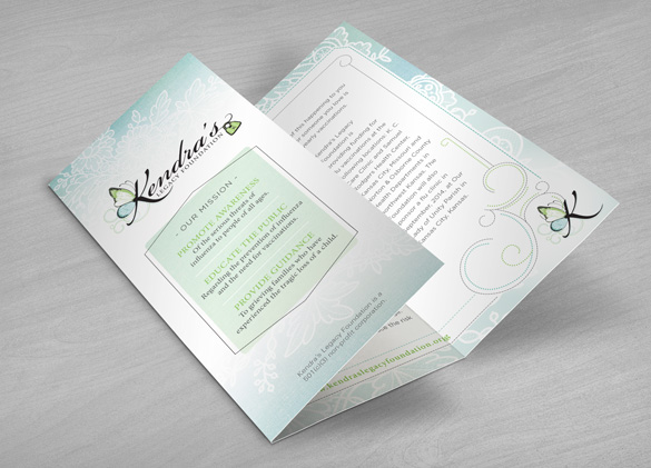 Pamphlet Design for Kendra's Legacy Foundation