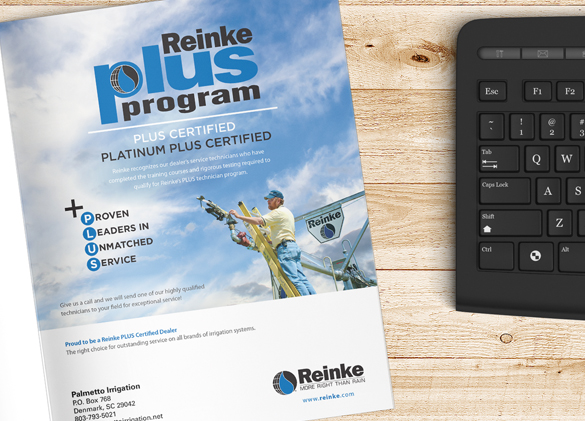 Ad Design for Reinke Irrigation