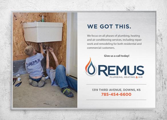 Van Wrap Design for Remus Plumbing, Heating & Air