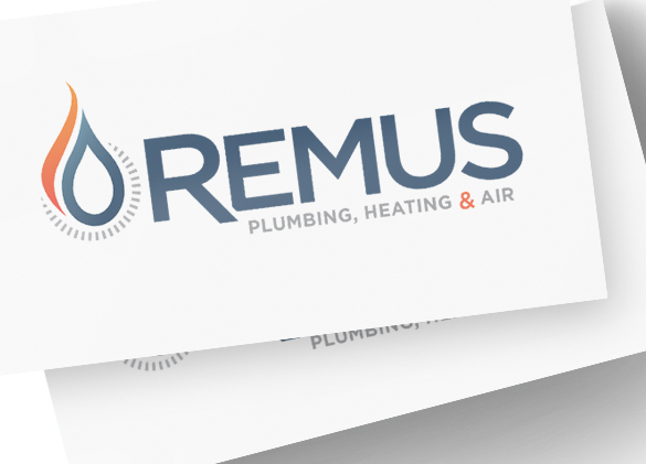 Logo Design for Remus Plumbing Heating and Air